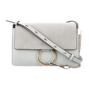 Chloe Small Faye Cross Body bag in Pale Blue